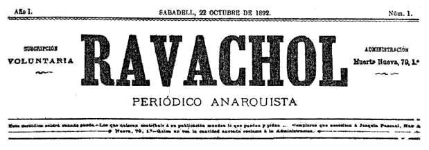 """Capçalera del primer número de """"Ravachol"""""""