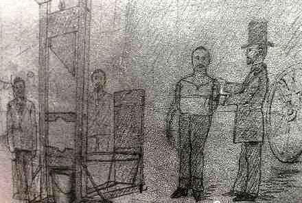 Dibuix sobre l'execució de Ravachol