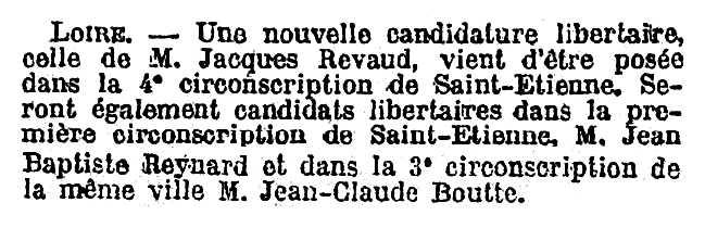 """Notícia sobre Jacques Revaud publicada en el diari parisenc """"Le Temps"""" del 12 d'abril de 1928"""