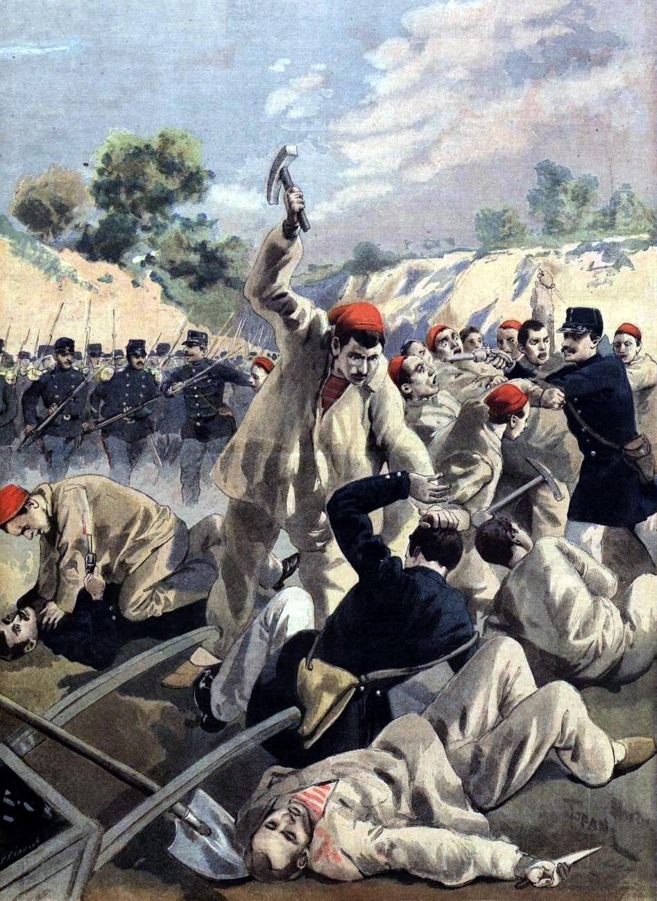 """Revolta anarquista de la Guaiana segons """"Le Petit Journal"""" del 16 de desembre de 1894"""