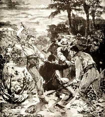 Una escena de la Revolta de les Illes de la Salut segons la premsa de l'època
