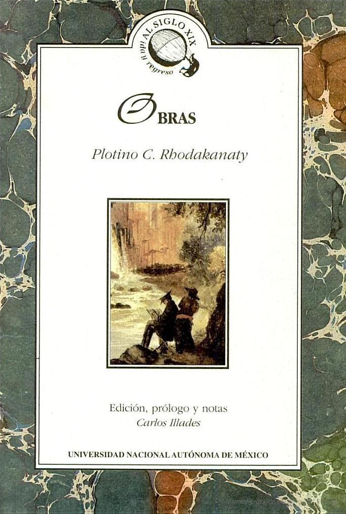 Portada de l'edició de les obres de Rhodakanaty de la UNAM (1998)