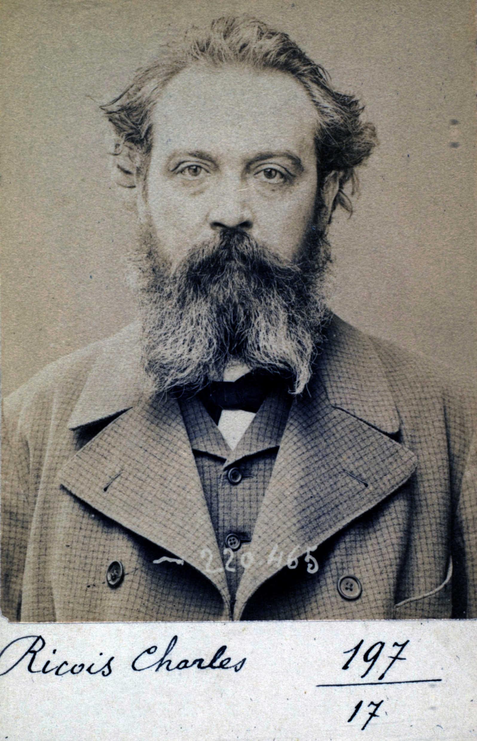 Foto policíaca de Victor Ricois (2 de juliol de 1894)