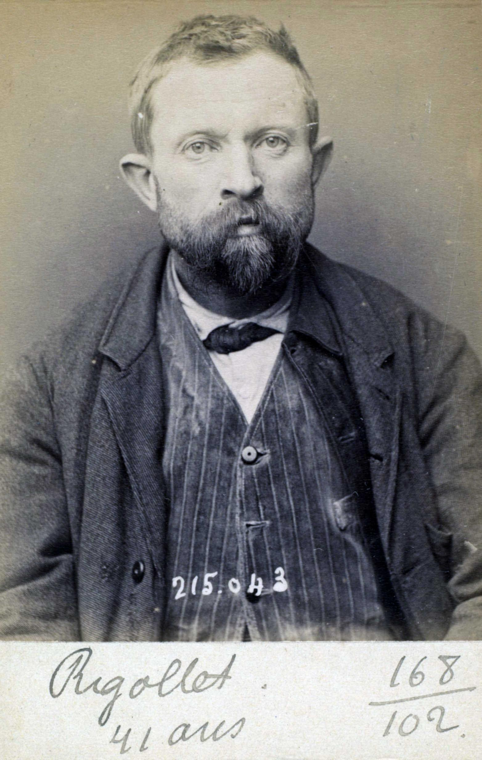 Foto policíaca d'Alexandre Rigolet (ca. 1894)