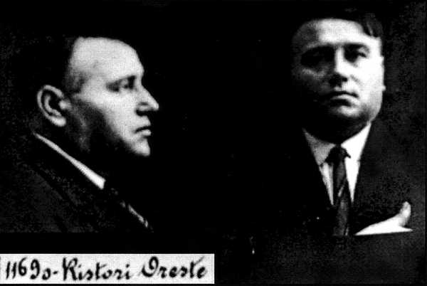 Ficha policial argentina de Oreste Ristoir (1919)
