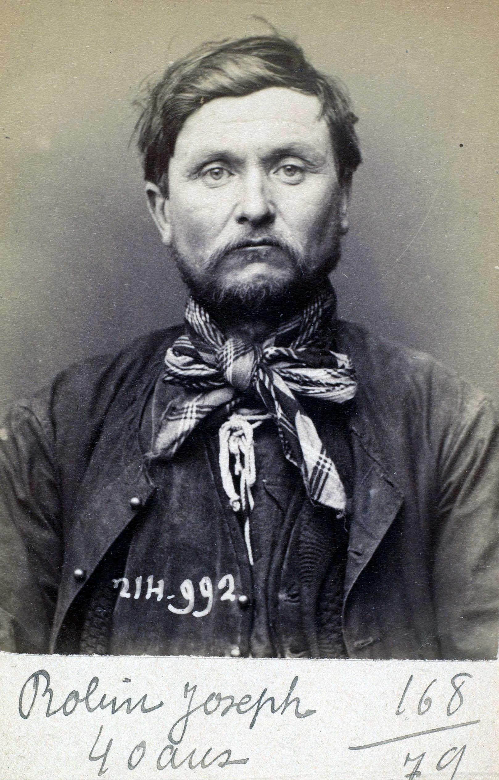 Foto policíaca de Joseph Robin (2 de març de 1894)