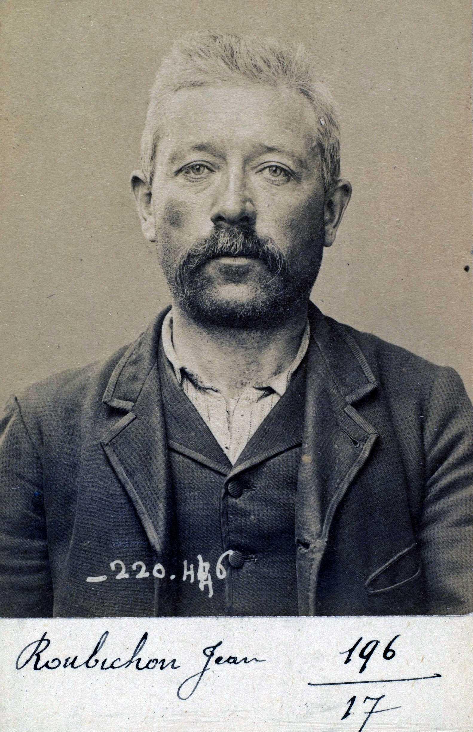 Foto policíaca de Jean-Marie Roubichon (2 de juliol de 1894)