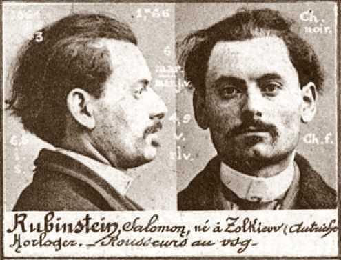 Foto policíaca de Salomon Rubinstein (ca. 1894)