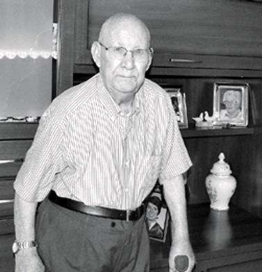 Hermógenes Sánchez García a casa seva (Montsó, 2014)