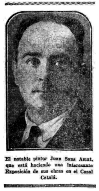 """Fotografia de Joan Sans Amat publicada en el diari """"El Heraldo de Madrid"""" del 24 d'abril de 1927"""