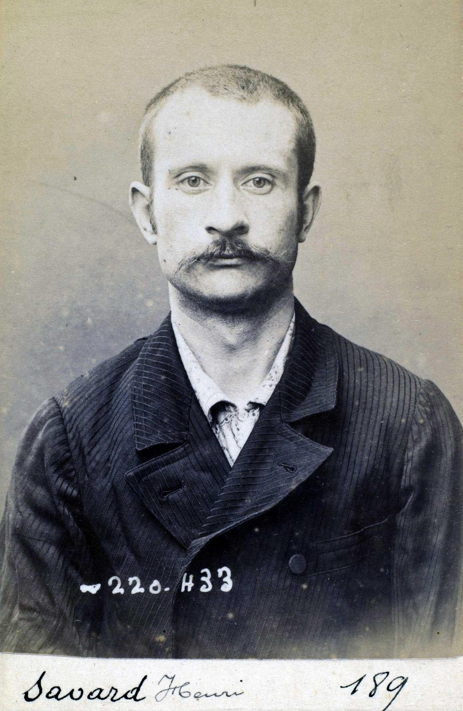 Foto policíaca d'Henri Savard (2 de juliol de 1894)