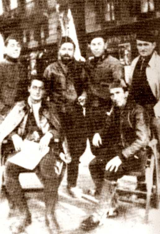 Membres de la Secció Italiana de la Columna Ascaso
