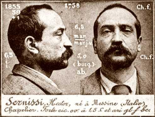 Foto policial de Hector Senissi (ca. 1894)