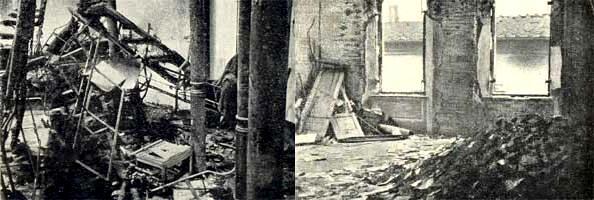Així quedà la Casa del Poble el 4 de març de 1921 per un atac feixista