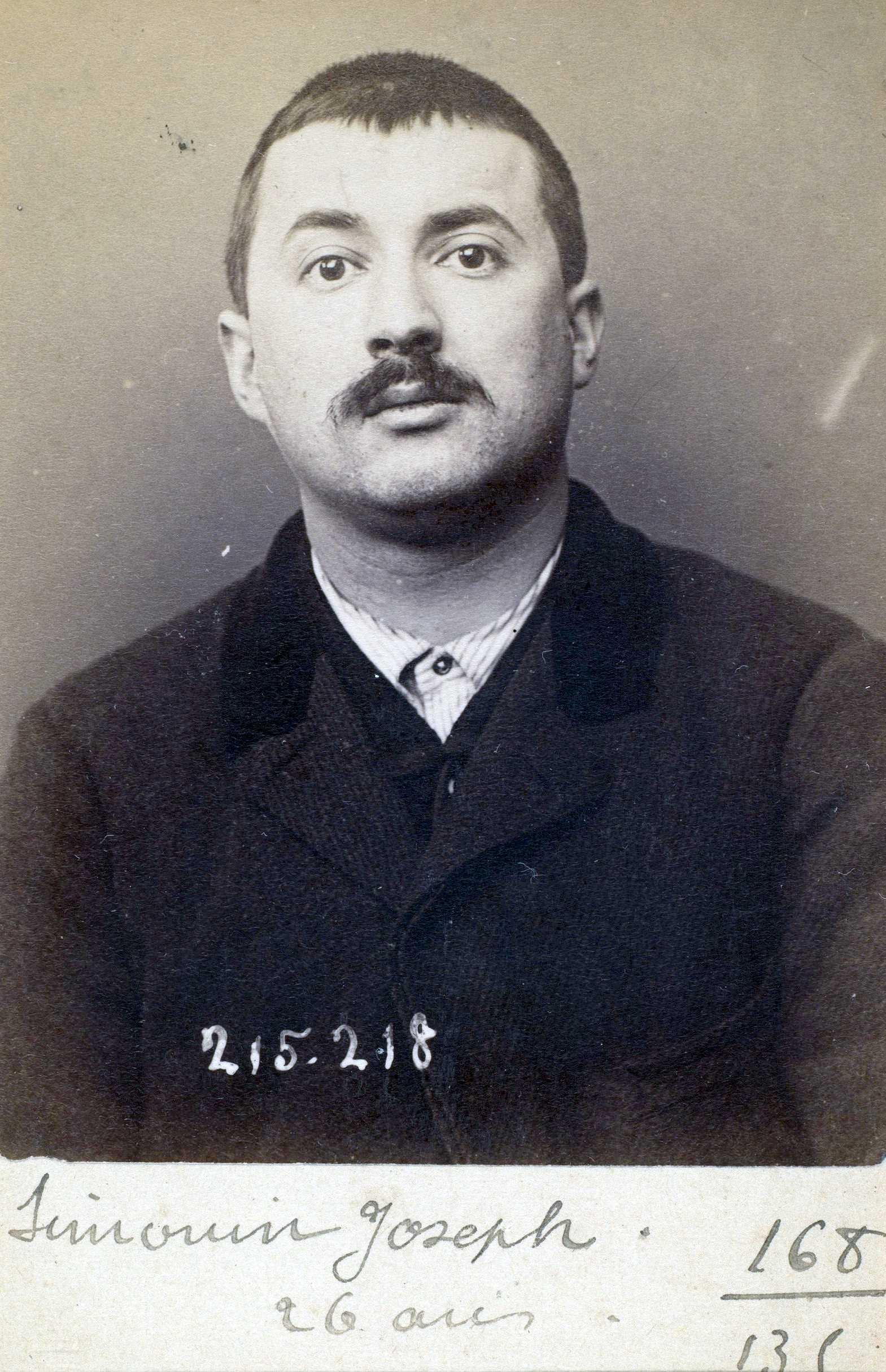 Foto policíaca de Joseph Simonin (6 de març de 1894)