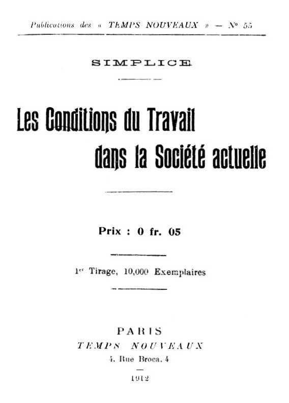 """Portada del llibre de Gabriel Grandjean (""""Simplice"""")"""