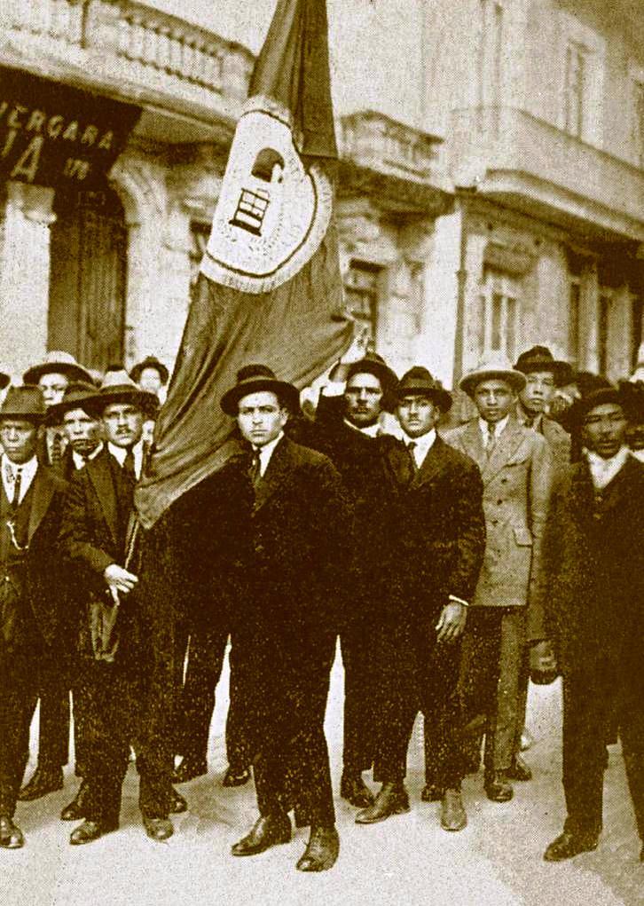 """Concentració del """"Sindicato de Voceadores de la Prensa"""" (Bogotà, 25 d'abril de 1925)"""