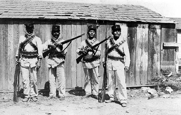 Soldados porfirista del VIII Batallón de Mexicali que combatieron la rebelión magonista