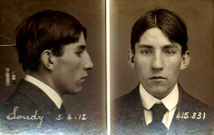 Foto policíaca d'André Soudy (3 d'abril de 1912)