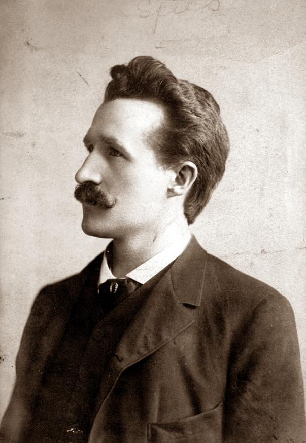 August Spies fotografiat per Jacob Maul (ca. 1886)