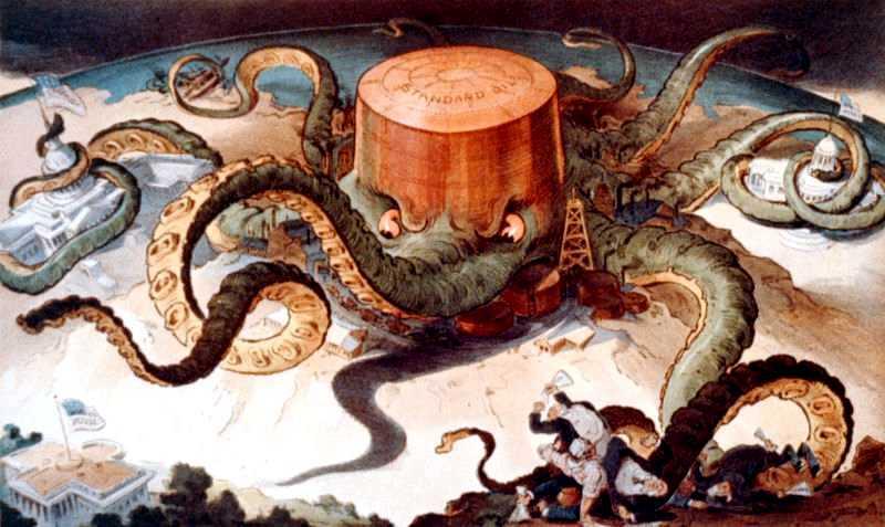 L'Standard Oil Company segons un dibuix satíric de l'època