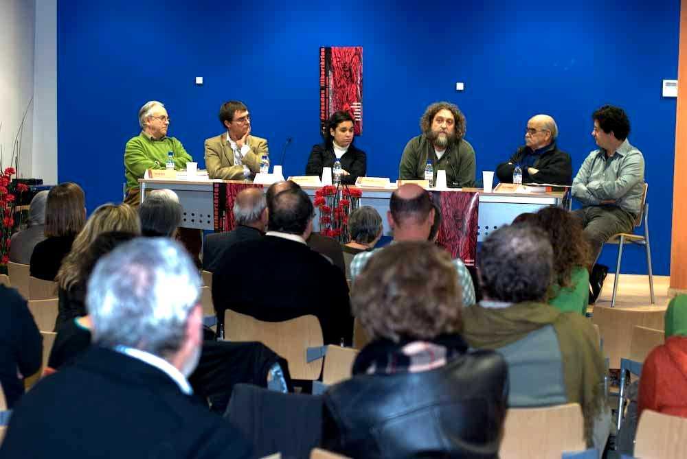 Els conferenciants, entre ells el nostre company d'Ateneu Ignasi de Llorens