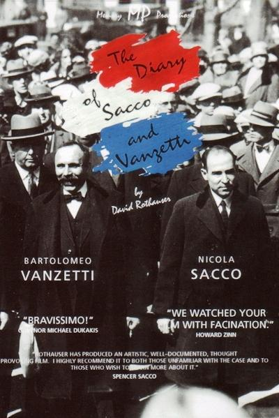 "Cartel de ""The diary of Sacco and Vanzetti"""