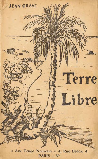 """Portada dissenyada per Mabel Holland Thomas per al llibre de Jean Grave """"Terre Libre"""" (1908)"""