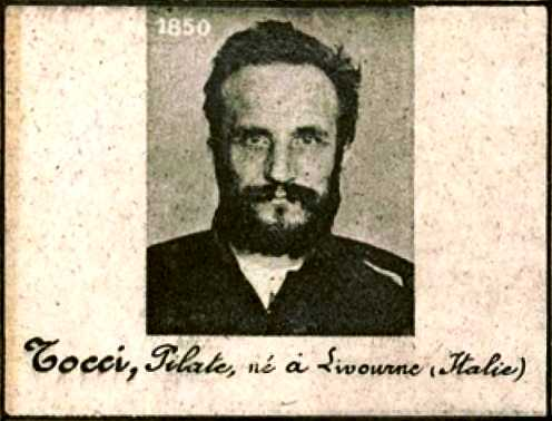 Foto policíaca de Pilade Tocci (ca. 1894)