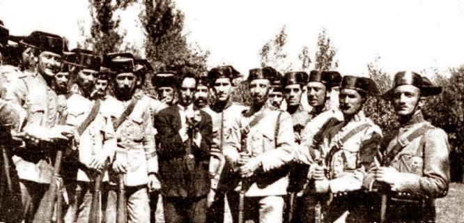 Rafael Torres Escartín detingut després de l'atracament al Banc d'Espanya de Gijón (2 de setembre de 1923)