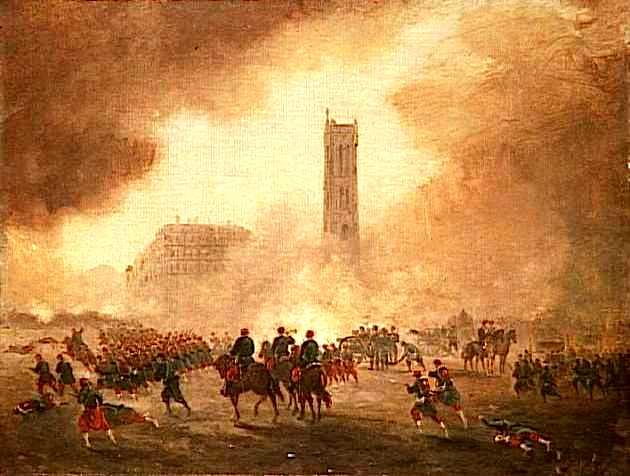 Les tropes de Versalles ocupant París
