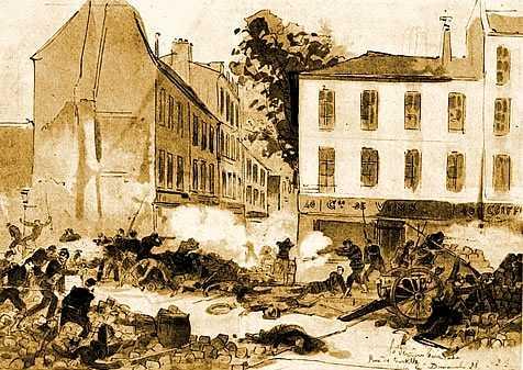 Presa de l'última barricada al carrer Ramponneau (28 de maig de 1871)