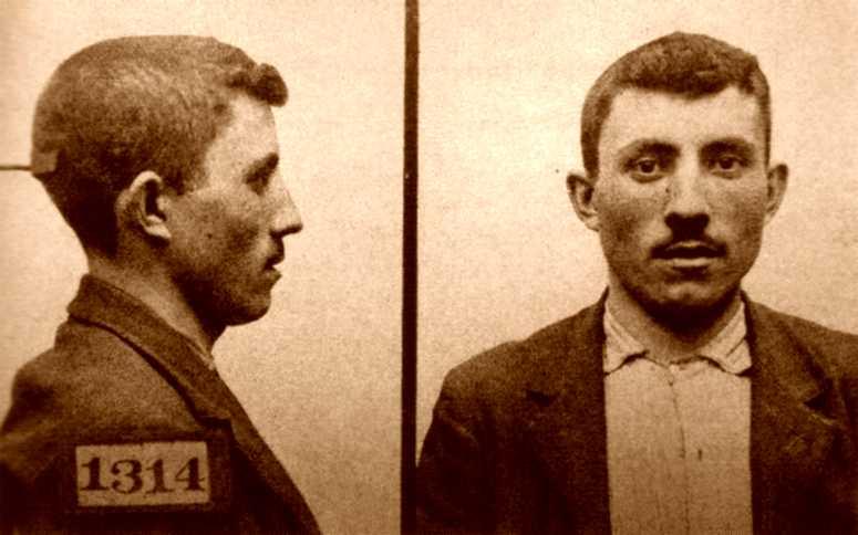 Foto antropomètrica de Manuel Ureña Romero (1904)