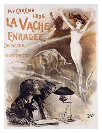 """Cartel de """"La Vache Enragée"""""""