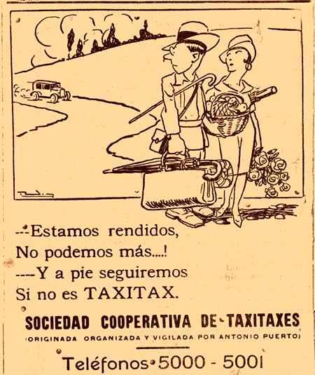 Propaganda de xofers de Bogotà (1927)