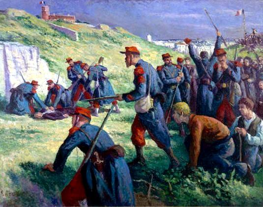 "Maximilien Luce: ""L'exécution de Varlin"" (1910)"