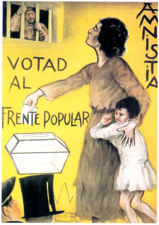 Cartell demanant el vot al Front Popular