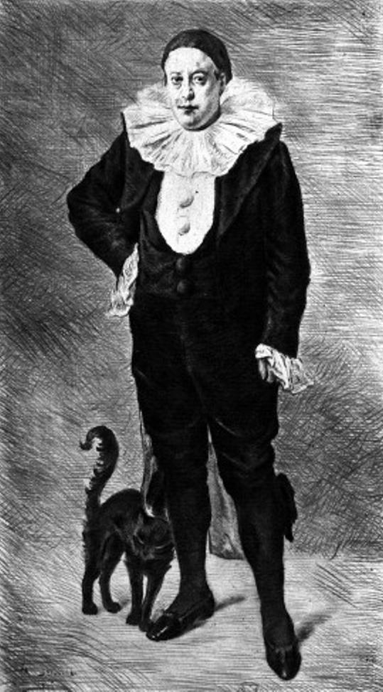 Adolphe Willete dibujado por Marcellin Desboutin ('El Artista. Revue del arte contemporain', Mayo 1896)