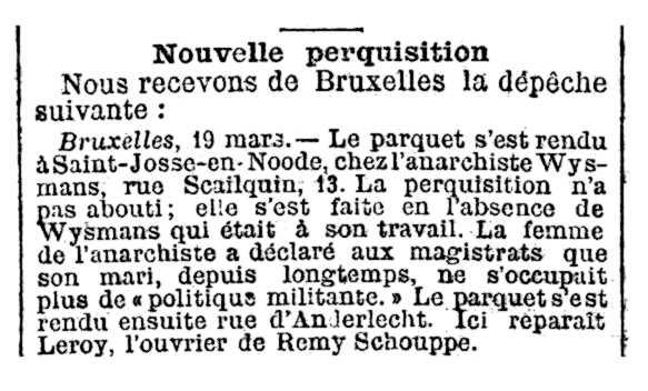 """Notícia de l'escorcoll d'Henry Wysmans apareguda en el diari parisenc """"La Lanterna"""" del 21 de març de 1893"""