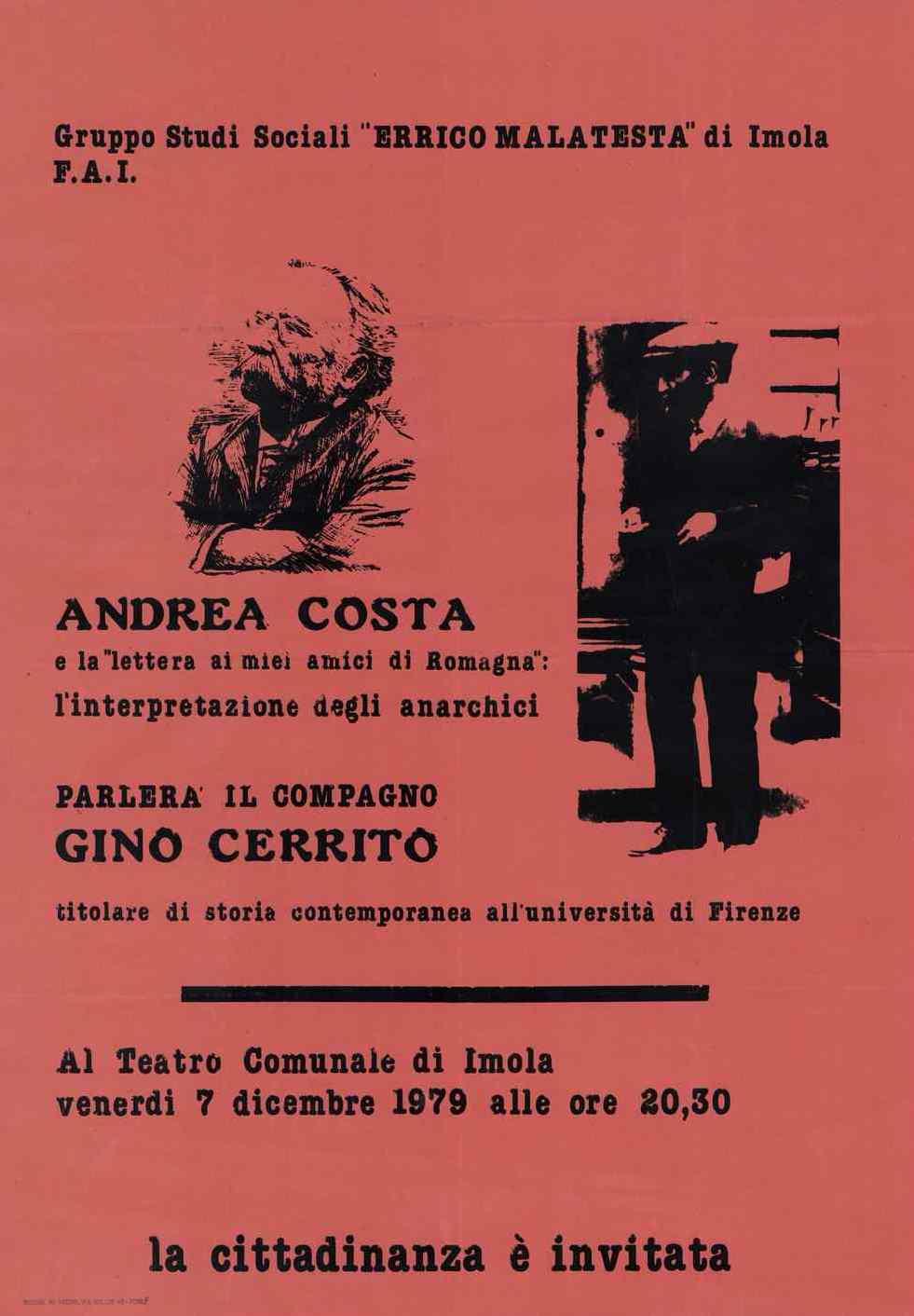 Cartell de la conferència realitzat per Flavio Costantini